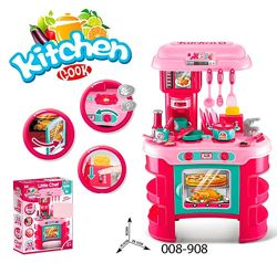Кухня детская 008 908 игровой набор с посудой Маленькая господиня