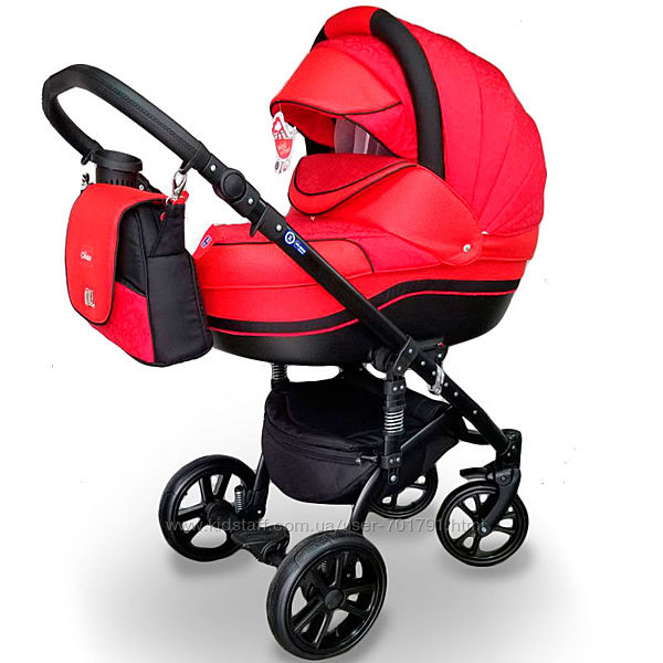 Детская универсальная коляска 2 в 1 MACAN Red