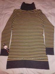 Теплый женский свитер свитр с горловиной