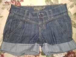 Джинсовые синие шорты New Look на девочку или худую девушку XS