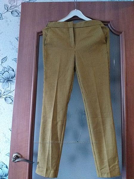 Zara mex 24 классичекие брюки принт гусиные лапки