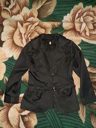 Черный пиджак на 1 класс, рост 122-128