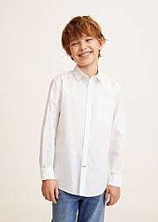 Хлопковая  рубашка Манго Испания
