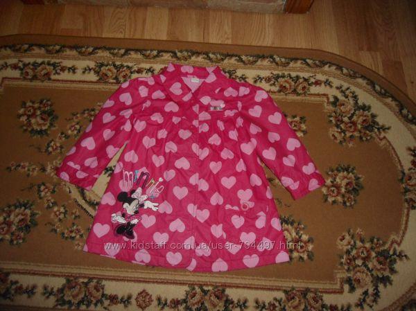 Демисезонное пальто Disney на 2-3 роки 98 см с минни маус