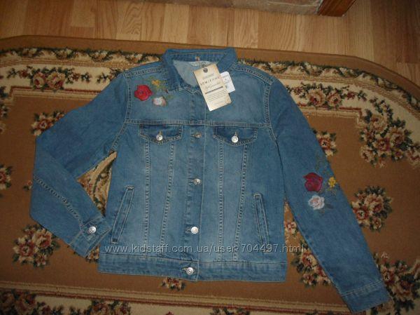 Новая джинсовая куртка с вишивкой LC Waikiki Туреччина розмір XS