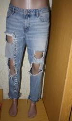 Стильные рваные джинсы бойфренды, 100 коттон , 12 р.