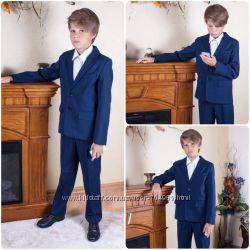 Синий школьный костюм  рост 128, 134, 140, 146