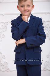 Синий Школьный костюм, размеры 128, 134, 140, 146
