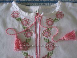 вышиванка 24 размер, вышиванка девочке 1-3 года, вышиванка 80-92 см, обмен