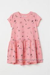 Свободное трикотажное платье НМ на 8-10 лет
