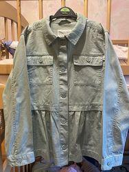 Коттоновый пиджак Gymboree с оборкой на пуговицах
