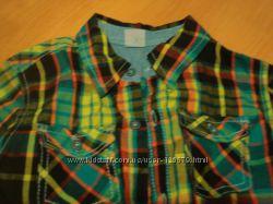 Рубашки с коротким и длинным рукавом на 6 лет