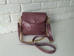 Кожаная сумка клатч кожаный на плечо с цепочкой