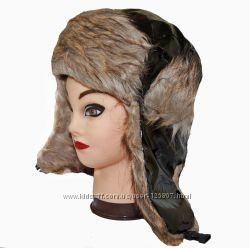Женские шапки-ушанки с мехом внутри стильные клетчатые купитьв Киеве
