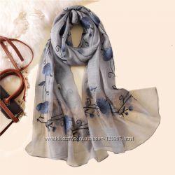 Женский шарф легкий натуральный купить в Киеве, рядом с метро Политех
