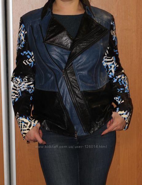 Дизайнерская подиумная куртка BCBGMAXAZRIA - натуральная кожа