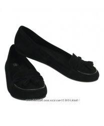 Туфли-балетки CROCS, натуральная замша