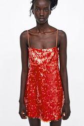 Платье в пайетках зара