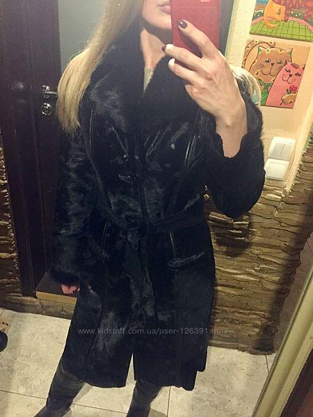 Пальто из натурального меха пони размер S XS