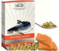 Витал плюс, Vital Plus, масло лосося в капсулах Vivasan, Швейцария