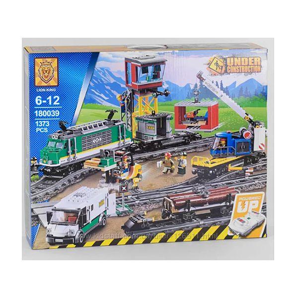 Конструктор радиоуправляемый LION KING City Товарный поезд 180039