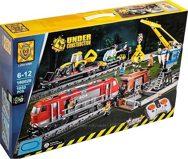 Конструктор LION KING Cities Мощный грузовой поезд 180028