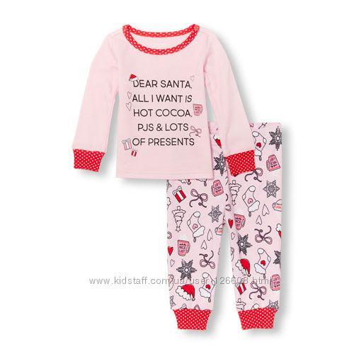 Разм. 2Т, 3Т, 4Т. Пижама новогодняя CHILDRENS PLACE  хлопок. В наличии.
