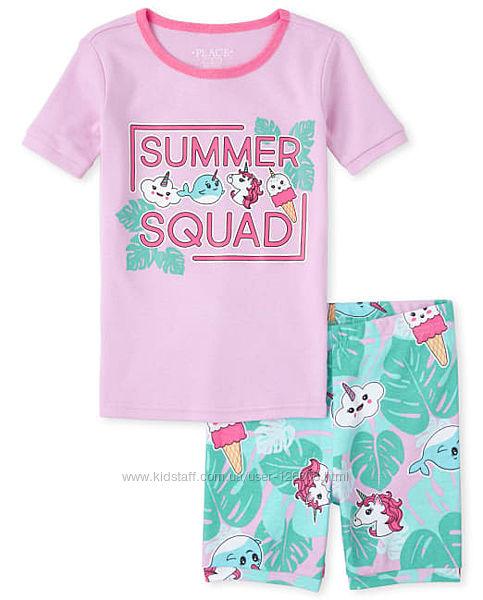 12л,14л. Пижама с коротким рукавом Childrens рlace.