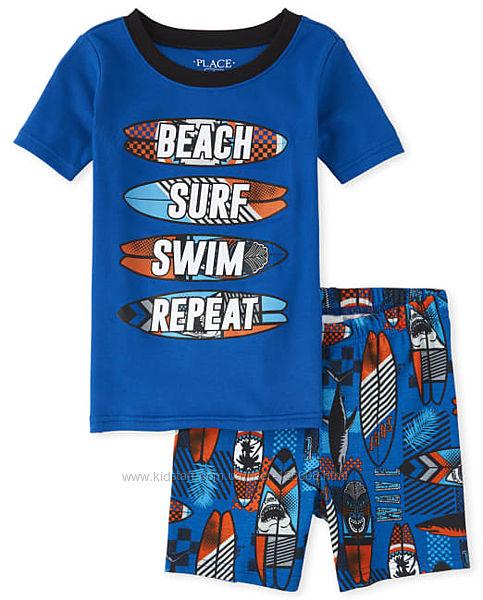Разм.8л. Пижама с коротким рукавом и шортами Childrens Place, хлопок.