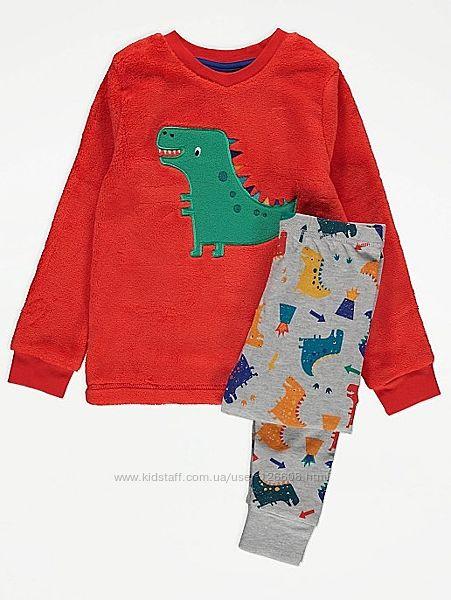 4-5л,5-6л,6-7л. Пижама с плюшевым топом Динозавр George. В наличии