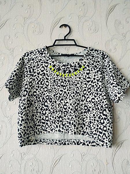 Топ футболка леопардовый принт на 10-11 лет 146-152 Сandy Couture