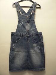 Крутой джинсовый сарафан Miss Evie, на 12-13 лет, новый