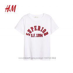хлопковая хб новая футболка H&M 10-14лет
