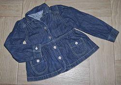 Джинсовый пиджак Debenhams на 6-7 лет