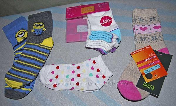 Новые носки на 3-6 лет - C&A Minions, Sonoma, H&M, M&S