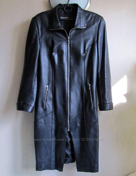 Кожаное пальто из натуральной кожи, ML