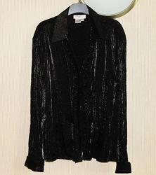 Блестящая блузка, рубашка, L-XL