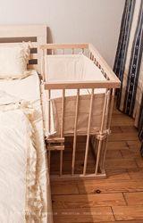 Приставне ліжечко для новонародженого Катруся Леля 40x80 ціну знижено
