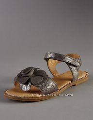 Блестящие кожаные босоножки  М&S AUTOGRAPH, 11 UК, 19  см стелька