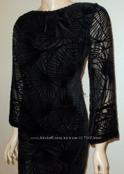 Шикарное нарядное платье StudioM, шелк с велюром, разме 46