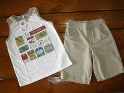 Smil летний комплект костюм 140р майка и шорты