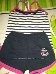 Літні костюмчики для дівчинки, зріст 92-98.
