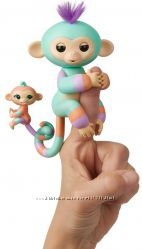 Обезьянка с малышом Fingerlings Baby Monkey  Danny Gianna. Оригинал