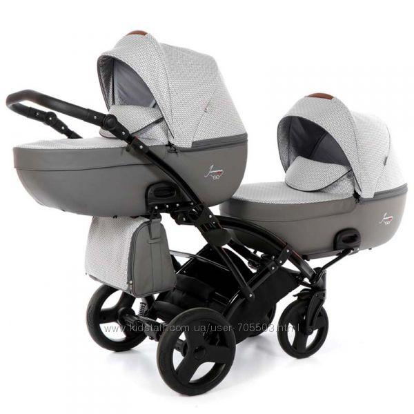 Универсальная коляска для двойни Tako Junama Madena Duo Slim