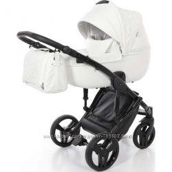 Детская коляска 2 в 1 Tako Junama Enzo 01 эко-кожа белая