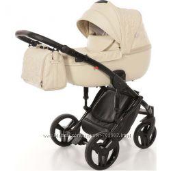 Детская коляска 2 в 1 Tako Junama Enzo 02 эко-кожа бежевая