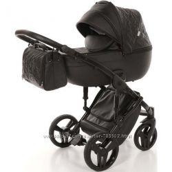 Детская коляска 2 в 1 Tako Junama Enzo 04 эко-кожа черная