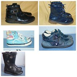 Демисезонные кеды кросс ботинки Clarks, Jones. Англия. Кожа.  Размер 24-30