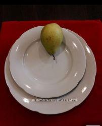 Тарелки белые фарфор, селедница