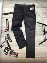 Суперские фирменные джинсы под кожу скинни Okaidi Франция 98-160 р-ры